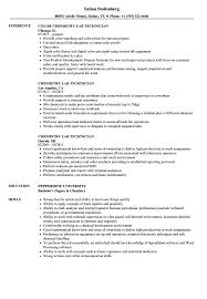 Laboratory Technician Resume Sample Chemistry Lab Technician Resume Samples Velvet Jobs 13