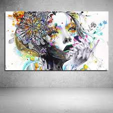 abstract drawing girl flower butterfly colour cartoon figure painting abstract
