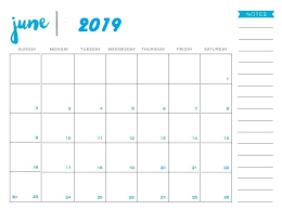 Full Page Blank Calendar Template June 2019 Printable Calendar Templates Free Pdf Holidays