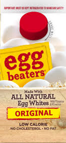 egg beaters original made with all natural egg whites only 25 calories 0 g fat 0 mg cholesterol