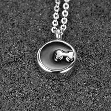 marlary memorial ashes keepsake urn bone pendant necklace pet stainless steel funeral necklace