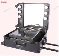 cosmetic box with l pull rod bag professional and makeup studio photo