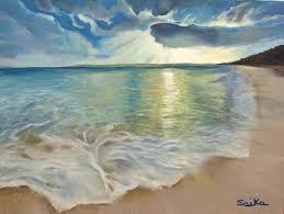 summer love oil painting 18x24 beach scene ocean wall art home on beach scene canvas wall art with displaying photos of canvas wall art beach scenes view 6 of 15 photos