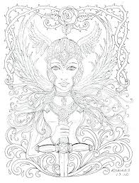Anime Angel Coloring Pages Anime Angel Coloring Pages Warrior Page