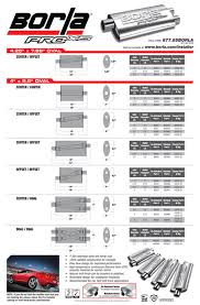 Muffler Size Chart Borla Pro Installer Program Universal Mufflers Accessories