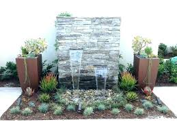 modern outdoor water wall fountain garden ideas with lighting mounted fountains large contemporary