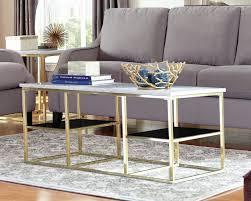 rose gold coffee table idea
