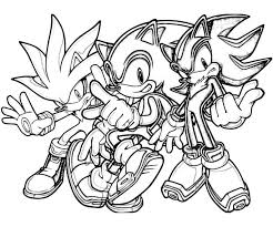 Boy Sonic Silver Coloring Pages Print Coloring