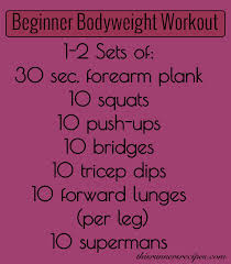 bodyweight beginner workout