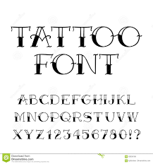 Lettering Letters Design Tattoo Font Vintage Style Alphabet Letters And Numbers