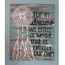 Quotes About Dream Catcher Best of Harry Potter Handmade Canvas Dreamcatcher Painting Pinterest