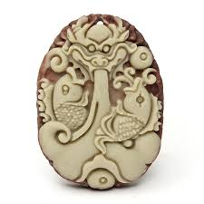 white lucky purple jade carved pendant for necklace dragon fish charm jewelry at banggood sold out