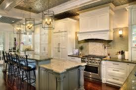 Decorative Kitchen Islands Elegancy Produced By Antique Backsplash In Kitchen Chatodining
