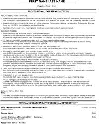 Environmental Planner Resume Sample & Template Page 2
