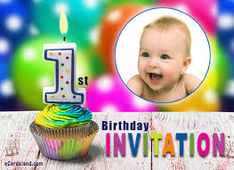Birthday Invite Ecards 1st Birthday Invitation Choose Ecard From Invitations