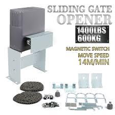 electric sliding gate opener 600kg automatic motor remote kit heavy duty ebay