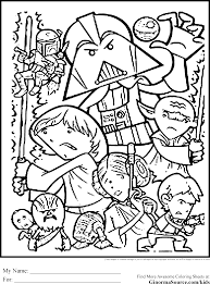 Small Picture Star Wars Christmas Coloring Pages omelettame
