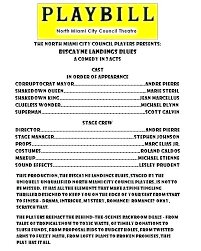 Playbill Template Download Theater Science Templates For