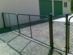 chain link fence double gate. Black PVC Chainwire Fence With Double Gates Chain Link Gate N
