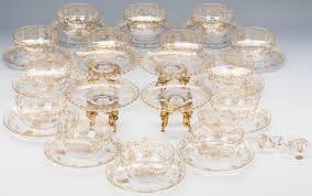 323 lot 323 baccarat gilded crystal bowls tazzas