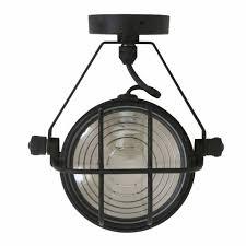 Industriële Wandlamp Plafondspot Bixby Zwart