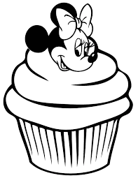 Minnie Mouse Coloring Pages Cupcake Coloringstar