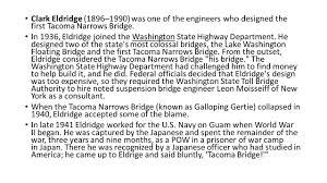 Design Of The Tacoma Narrows Bridge Why We Got It Wrong Tacoma Narrows Bridge Ppt Video Online
