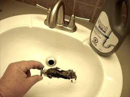 L Unclogging Bathroom Sink Clogged  Drain Auger