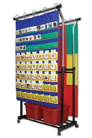 Double Pocket Chart Stand