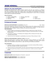 Medical Billing Resume Resume Templates