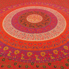 twin red hippie tapestry indian bedspread mandala wall hanging boho chic decor