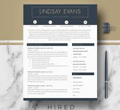 Format Modern Resume Resume Templates Hired Design Studio