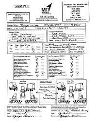 sample bol bill of ladingxample mamo transportation sale sample bol 794x1024
