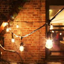 vintage string lights outdoor bistro