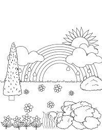 Small Picture Rainbow In The Garden Coloring Pages Rainbow Coloring Pages