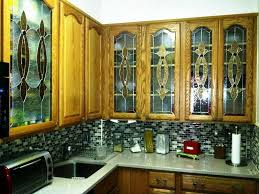 decorative glass inserts for kitchen cabinets idea