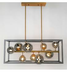 Caged Bright Light Spheres Pendant Light Qez Kosilightuk