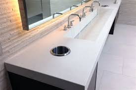 commercial bathroom sinks and counters befon for