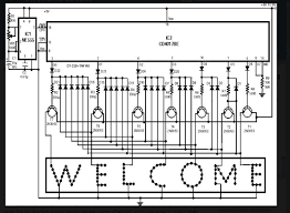 led sign board circuit diagram led image wiring led sign sequencer 7 steps on led sign board circuit diagram