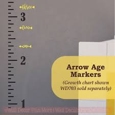 Growth Chart Ruler Decal Arrow Age Markers Add On To Track Growth On Ruler Charts Vinyl Wall Decal