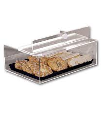 40690 acrylic counter top pastry case 18 l x