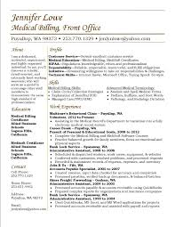 Medical Billing Resume Templates Optometry Resume Template Best Of Medical Billing Resume Sample For 8