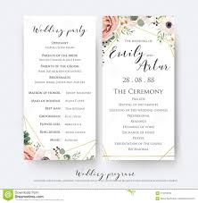 Wedding Program Designs Wedding Program For Party Ceremony Card Design With Elegant La
