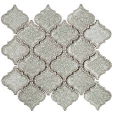 ivy hill tile roman selection iced white lantern glass mosaic tile 3 in x