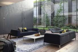 special pictures living room. Amazing Modern Living Room Applying Clear Glass Front Wall With Ball Chandelier Furnished Black Sofas Special Pictures R
