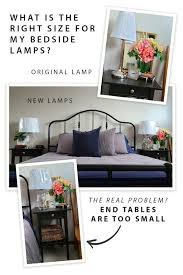 right scale for bedroom lamps lighting