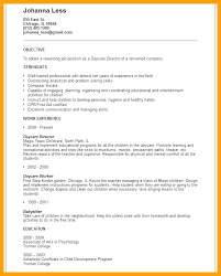 Day Care Resume Daycare Assistant Resume Objective Worker Childcare Spacesheep Co