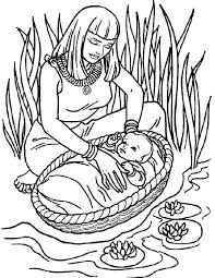 Moses Coloring Pages For Preschoolers Coloring Pages For