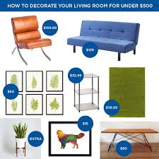 Living Room Set For Under 500 How To Decorate Your Living Room For Under 500
