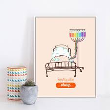 Modern Minimalist Cute Cartoon Cloud Rainbow Infusion Quotes Art Prints Poster Wall Picture Canvas Painting Kid Room Decor